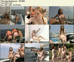 Nudism video – A day of sailing