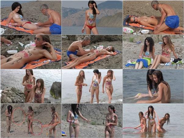 Nudism video – Body art nudist beach [vol 1]