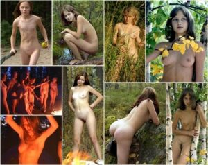 Young girls nudists photo – Holy nature [set 4]