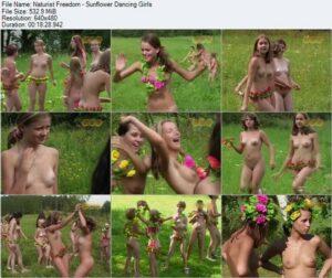 Naturist Freedom video – Sunflower dancing girls