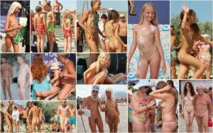 Young nudists photo – Sunny sand celebration