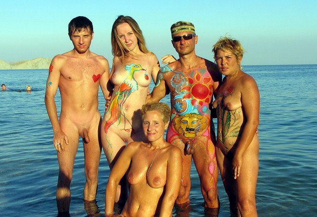 Young nudists, photo