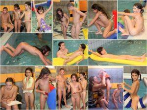 Pure nudist photo – Indoor swimming pool [set 1]