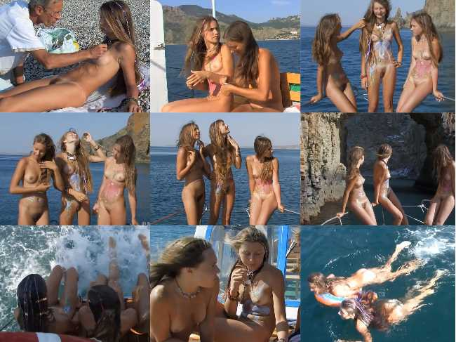 Candid nudist video – Body artistry in paradise